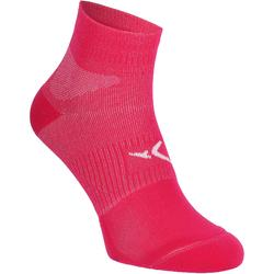 Chaussettes antidérapantes fitness rose