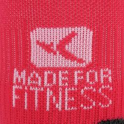 Chaussettes invisibles fitness cardio training x2 rose