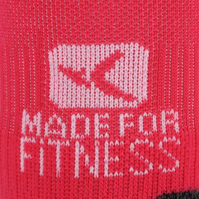 Sportsokken fitness onzichtbaar 2 paar, roze