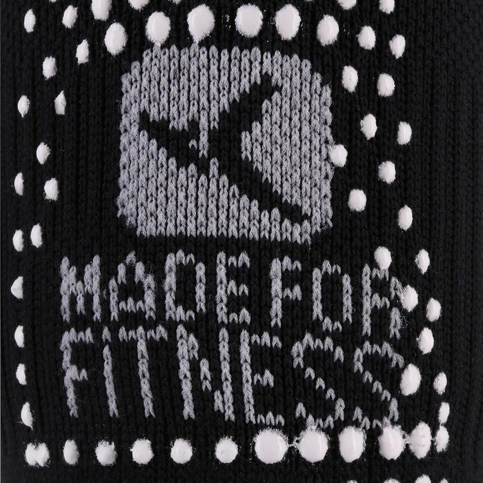 Calcetines Antideslizantes Cortos Gimnasia Pilates Yoga Negro
