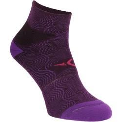 Chaussettes antidérapantes fitness violet