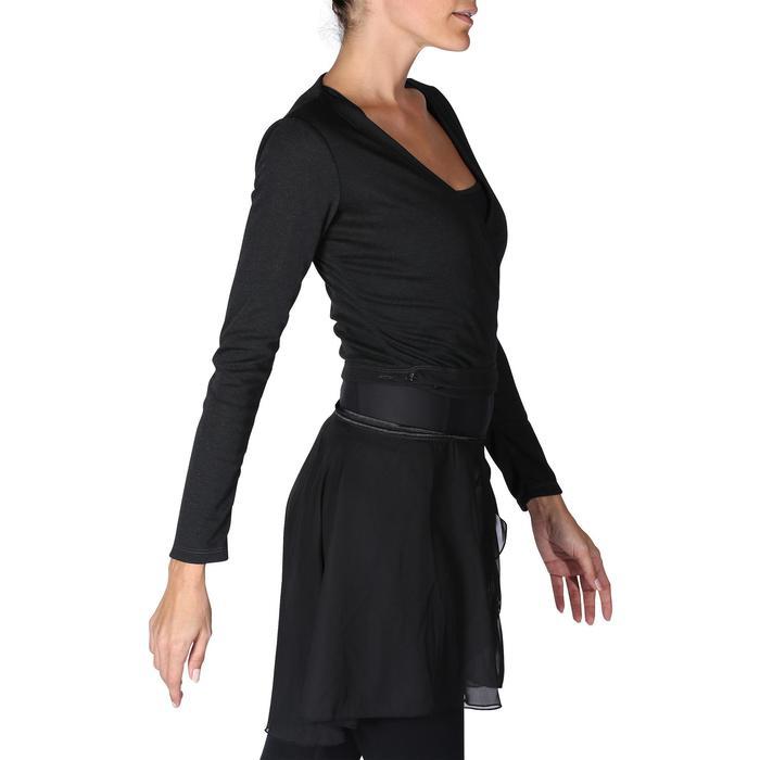Chaqueta cruzada de danza clásica mujer negro Domyos  1bbbfbabc152