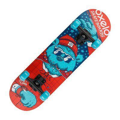 สเก็ตบอร์ดสำหรับเด็ก Play 3 Bear (สีฟ้า)