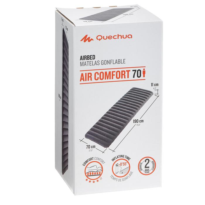 Luchtbed Air Comfort 70 grijs 1 persoon