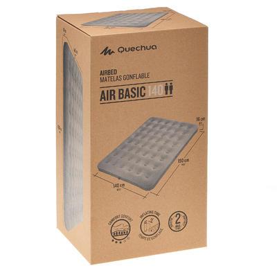 مرتبة هوائية AIR BASIC 140 للتخييم قابلة للنفخ تسع شخصين - لون رمادي