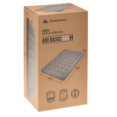 Надувний матрац для походів Air Basic 140, 2-місний - Сірий