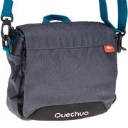 Grey multi-compartment bag
