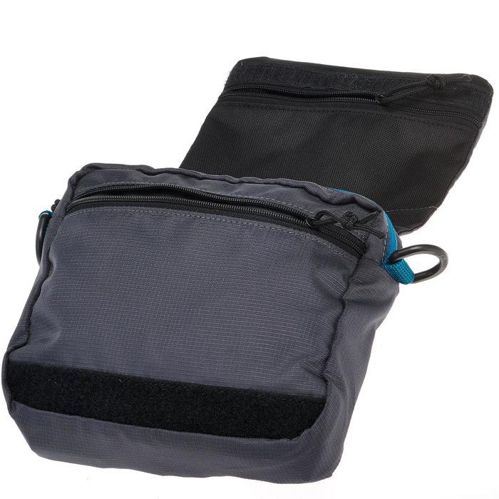 多隔層旅行腰包-灰色