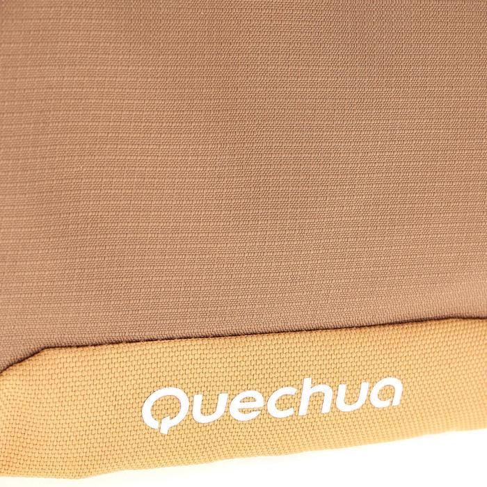 Bolsa Multicompartimentos Viaje Senderismo Quechua Travel Beige