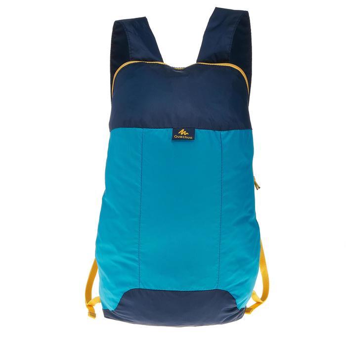 Rucksack ultrakompakt 10 Liter blau