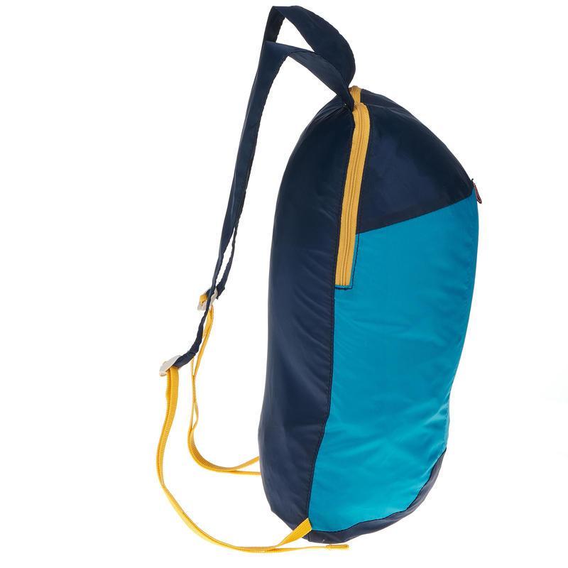 Mochila TRAVEL ultra compacta 10 litros azul