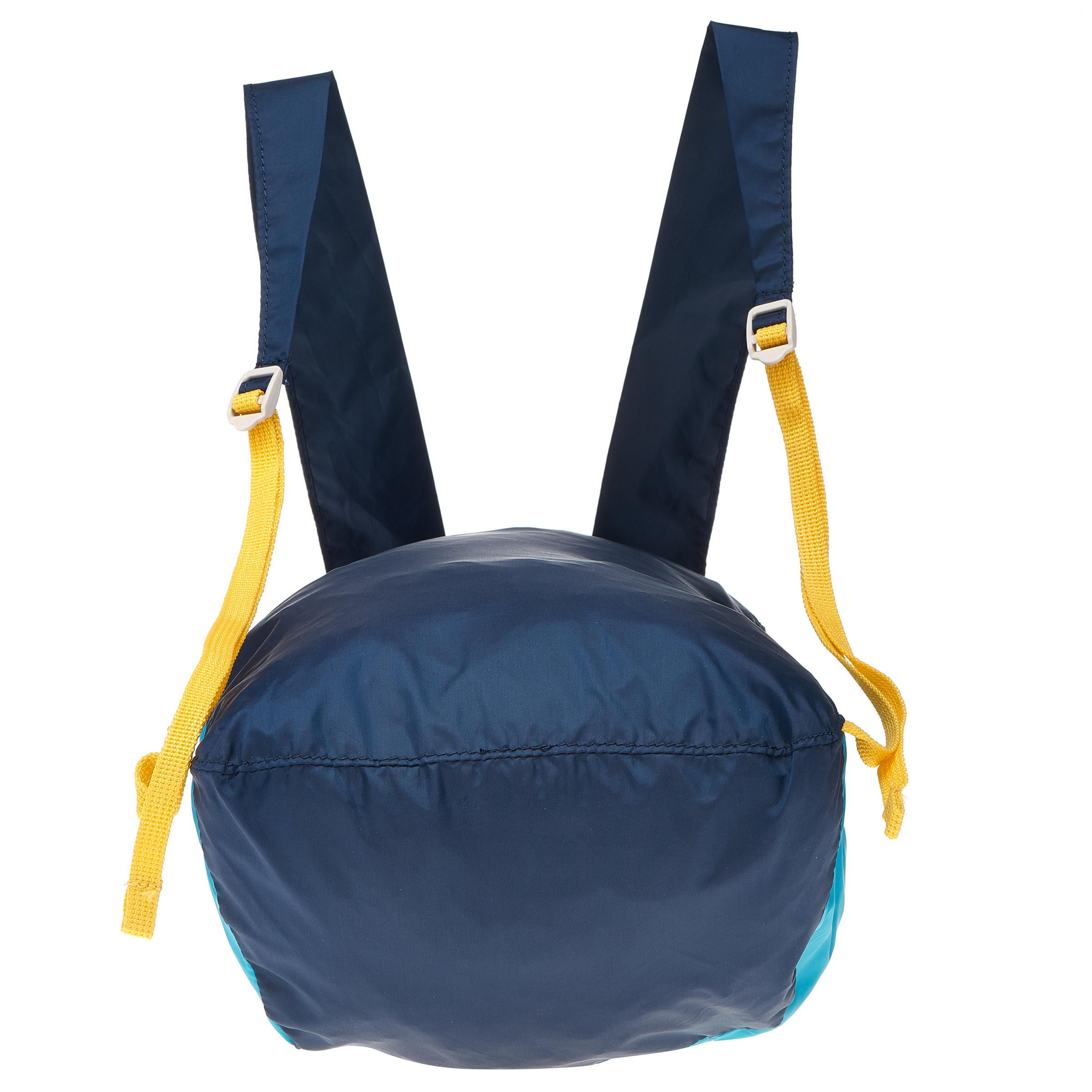 Sac à dos d'appoint ultra compact 10 litres bleu