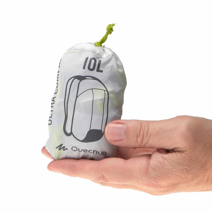 Mochila TRAVEL ultra compacta 10 litros gris