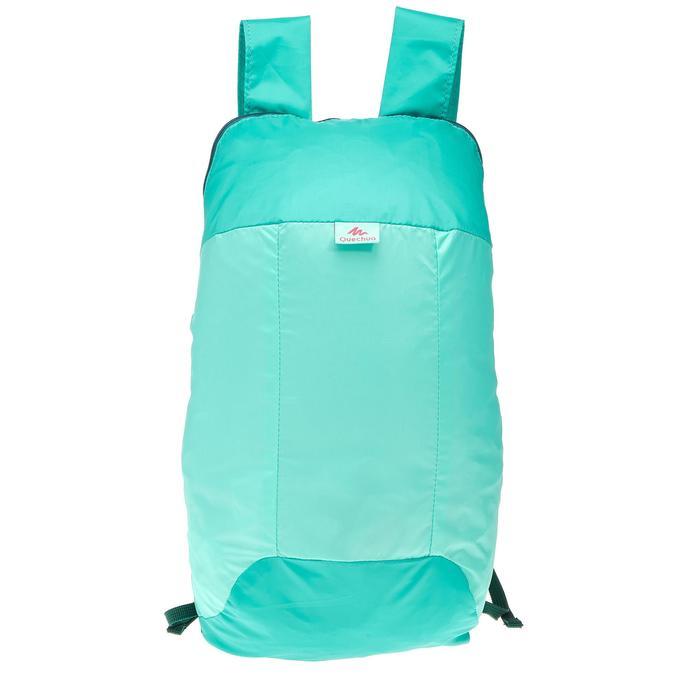 Extra compacte rugzak van 10 liter turkoois