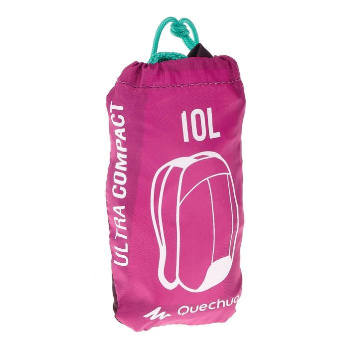 Sac à dos d'appoint ultra compact 10 litres violet