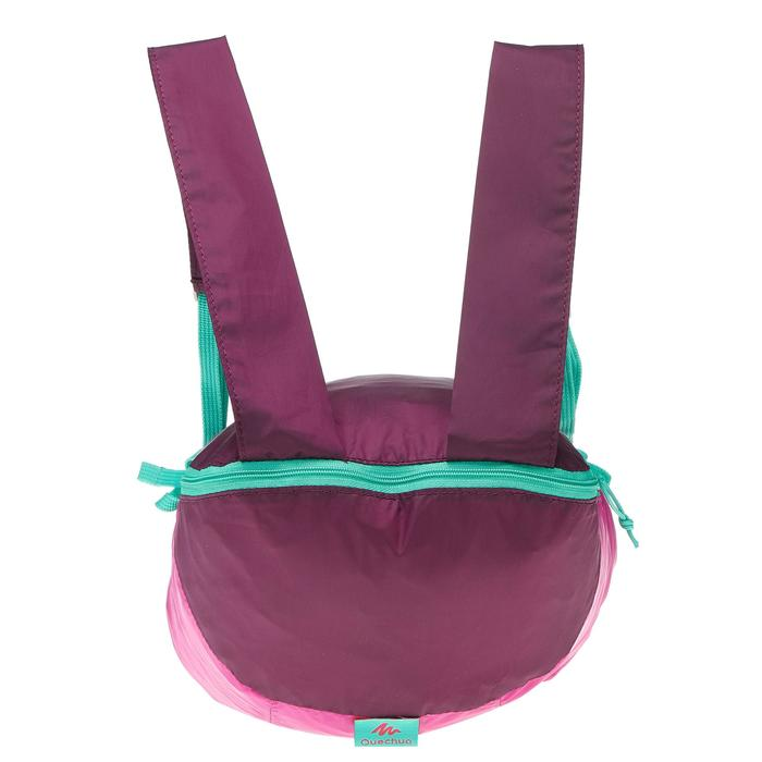 Rucksack ultrakompakt 10 Liter violett