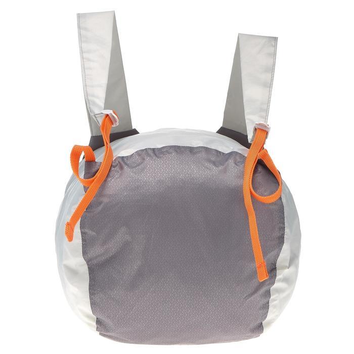 Extra compacte rugzak van 20 liter waterdicht grijs