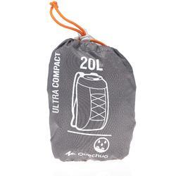 Rucksack Travel ultrakompakt 20Liter wasserdicht grau