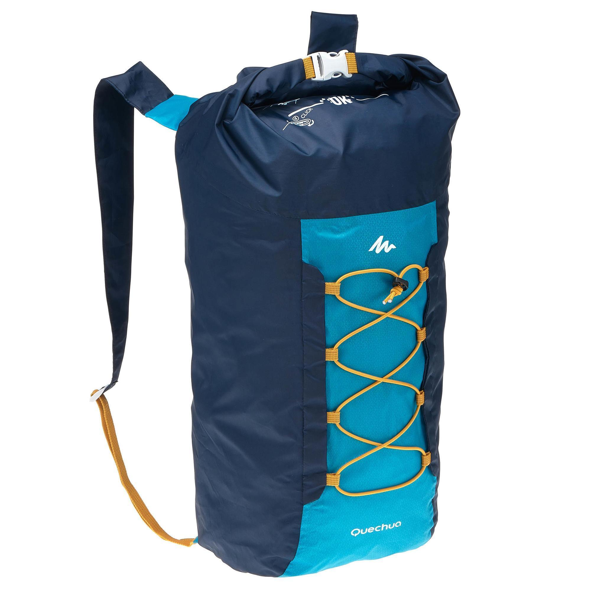 sac dos d 39 appoint ultra compact 20 litres imperm able bleu quechua. Black Bedroom Furniture Sets. Home Design Ideas