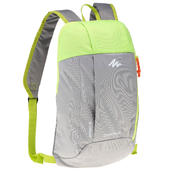 HIKING BACKPACK 10Litre NH100 - GREY/GREEN