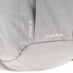 Mochila de Montaña y Senderismo Quechua NH100 10 Litros Gris Verde