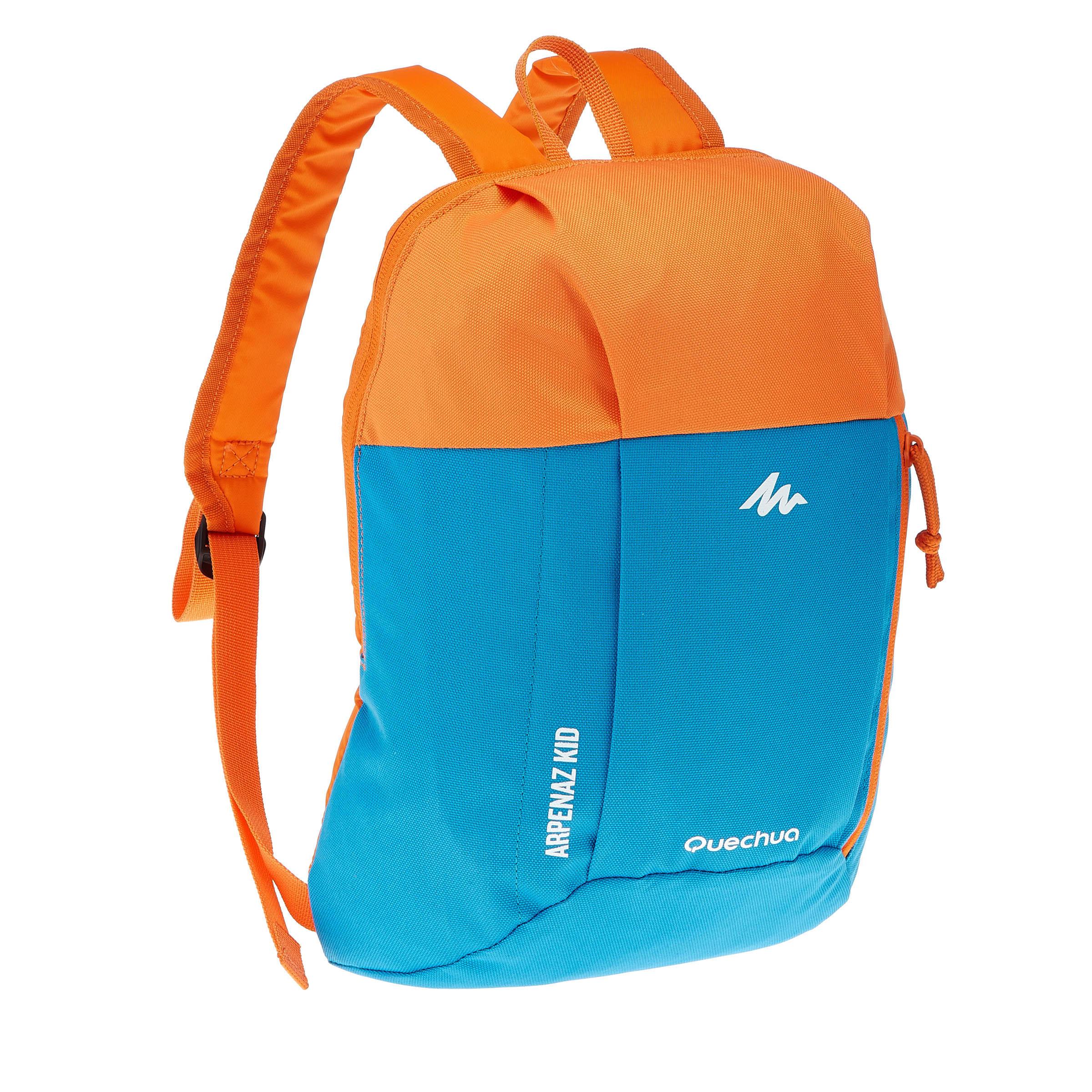 Mochila de campamento niños Arpenaz Kid azul naranja