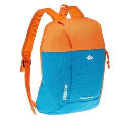 Wandelrugzak voor kinderen Arpenaz 7 liter blauw oranje