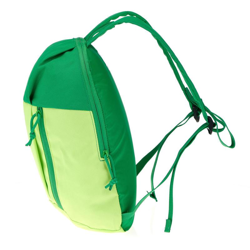 Arpenaz Kid children's hiking backpack light green and dark green