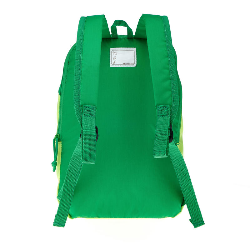 Arpenaz Kid children's hiking backpack light green and dark green