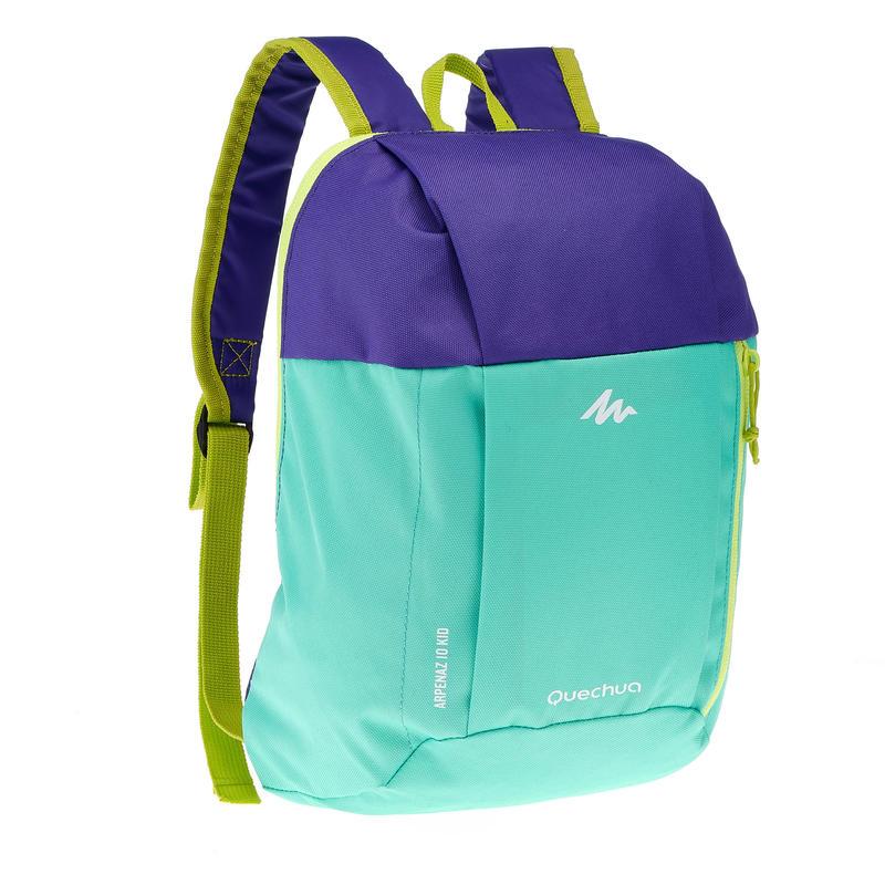 Kid's Arpenaz 7-litre backpack - Green/Purple