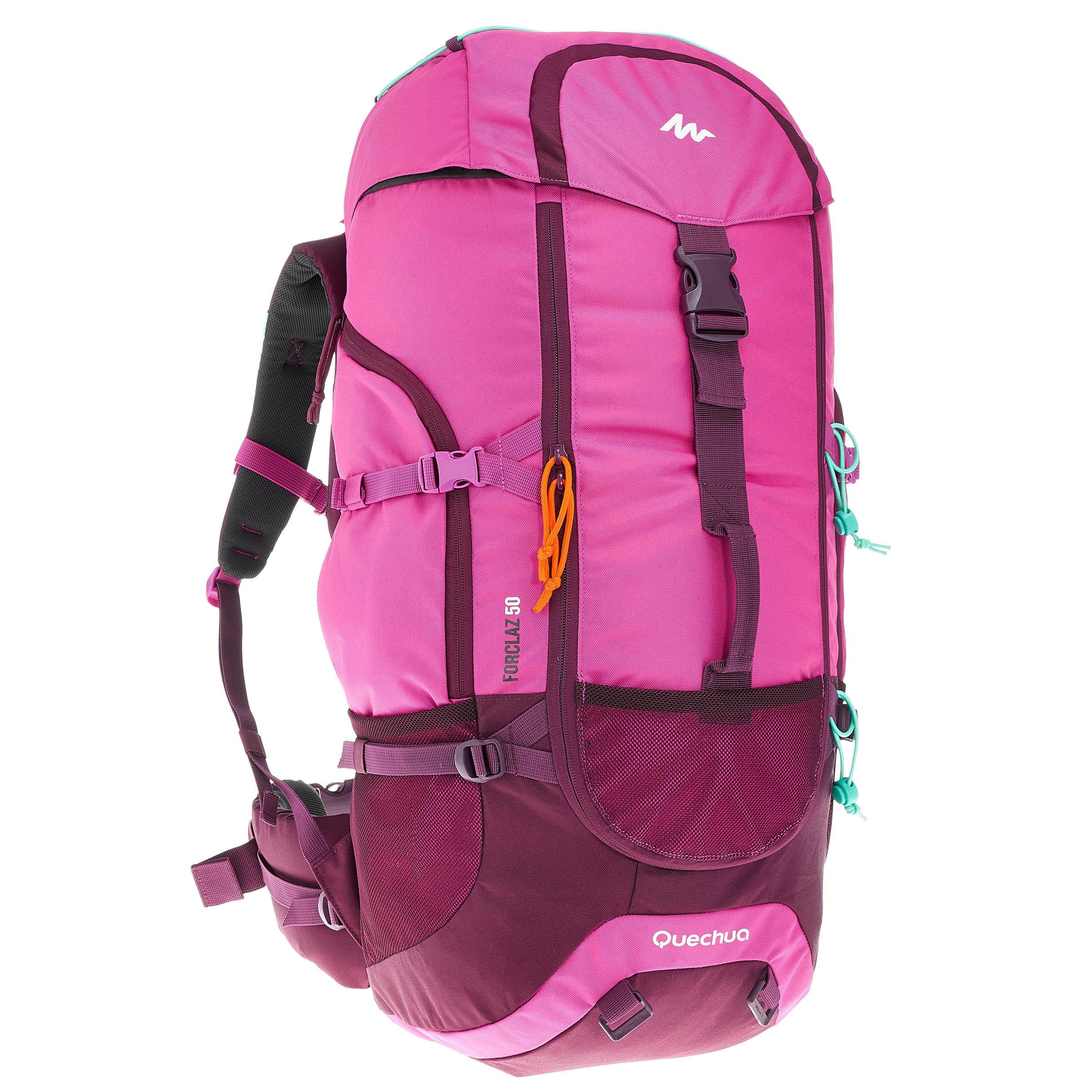 Damen,Herren Backpacking-Rucksack Forclaz 50 Liter rosa   03608439581519