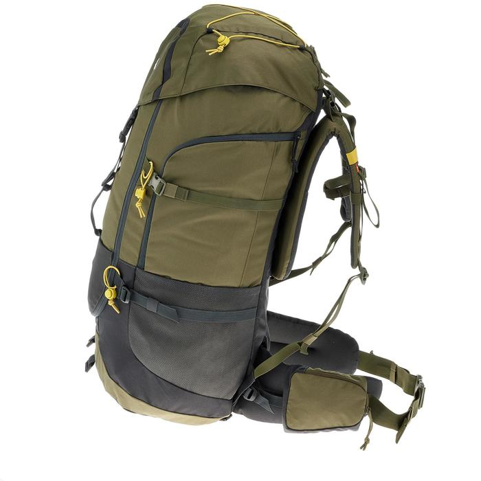 Backpacking Rucksack Forclaz 70 Liter khaki