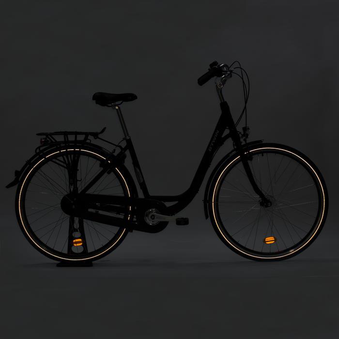 Stadsfiets Elops 920 donkergrijs - Damesfiets met lage instap frame