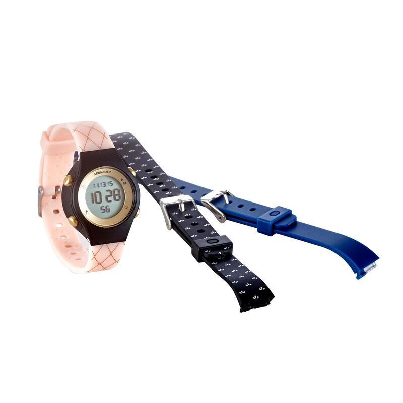 Horlogekast voor dames en kinderen W500 S Swip stopwatch zwart