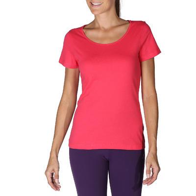 Sportee 100 Women's Short-Sleeved Gym & Pilates T-Shirt - Pink