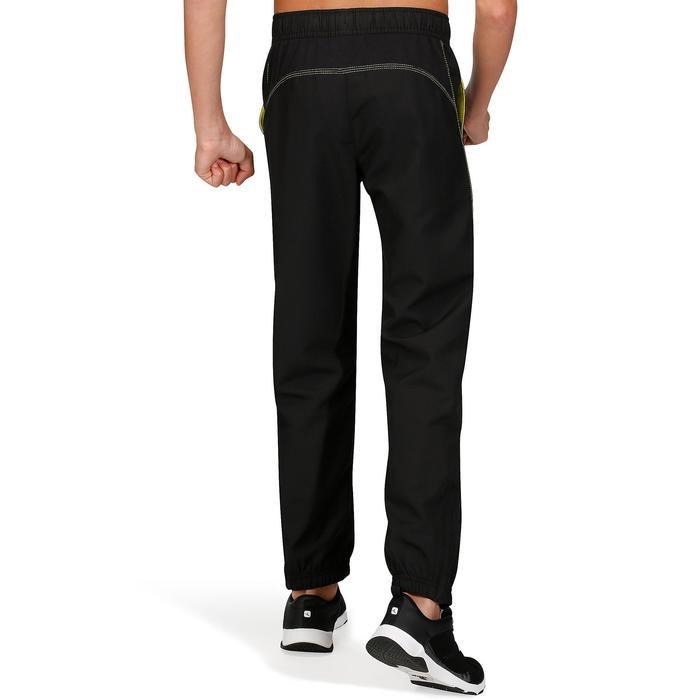 Pantalon regular Gym Energy garçon noir jaune