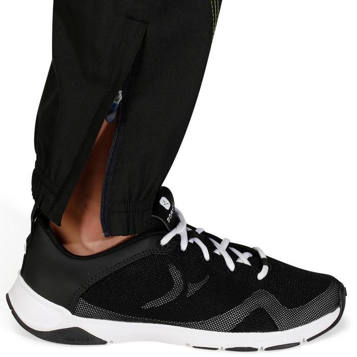 Pantalón regular de gimnasia Energy para niño negro amarillo