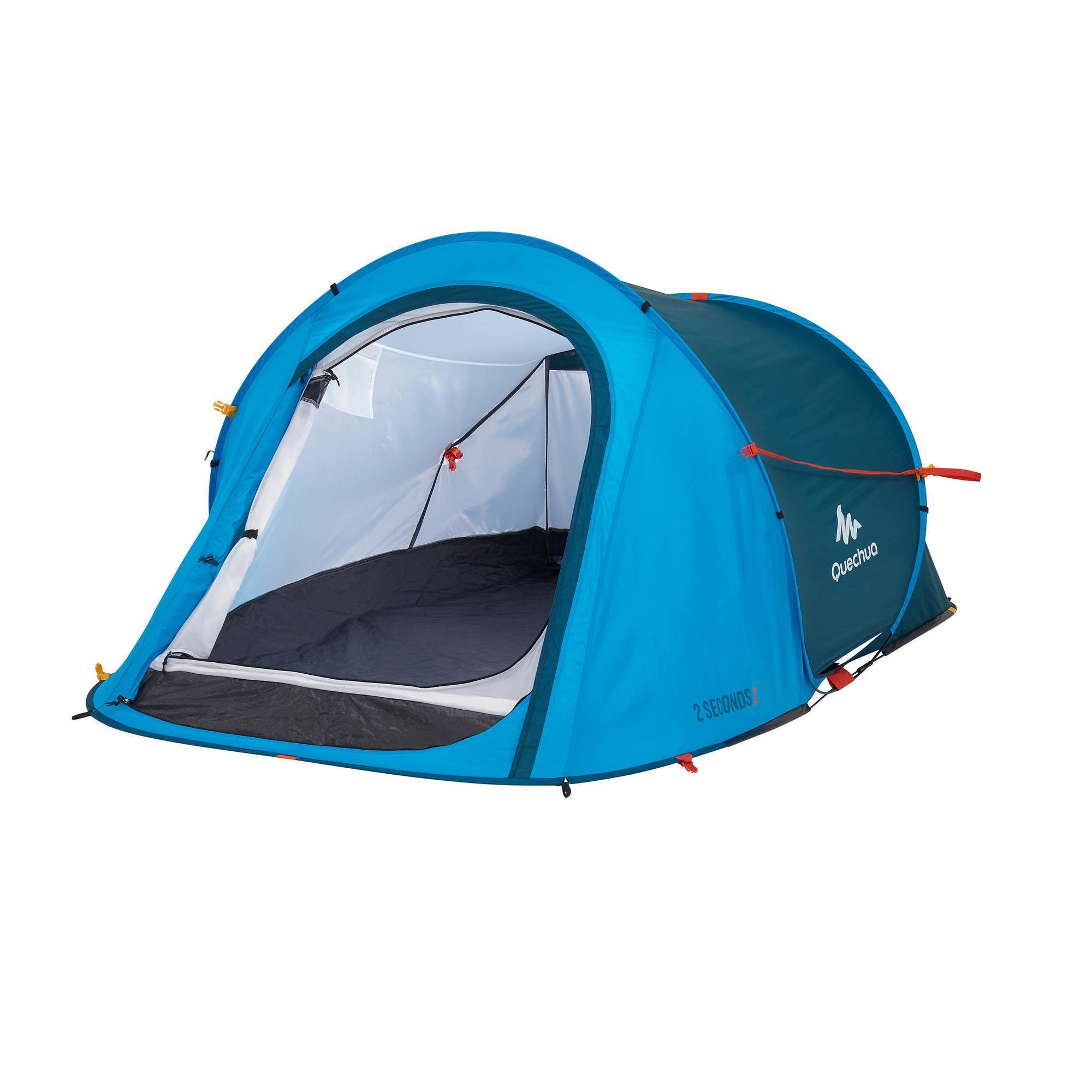 2 Seconds 2 Pers - Blue  sc 1 st  Quechua & Camping tents for 1 to 3 people | Quechua