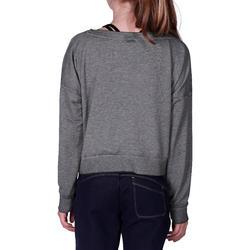 Kort, wijd sweatshirt met lange mouwen voor meisjes, oranje. - 756286