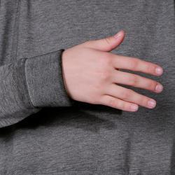 Kort, wijd sweatshirt met lange mouwen voor meisjes, oranje. - 756288