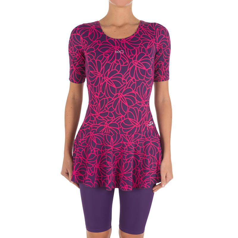 Audrey Women's Jammer Map Swimsuit - Purple