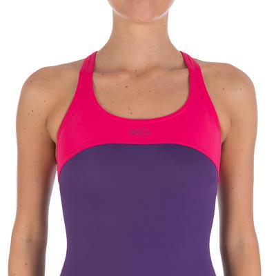 Leony cut women's one-piece swimsuit - purple pink