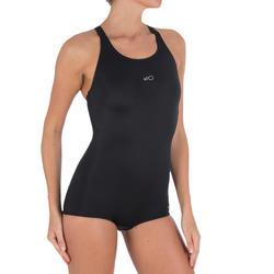 Leony Shortcut Women's One-Piece Swimsuit - Black