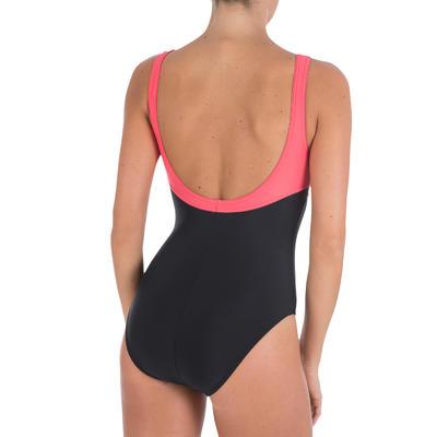 Vestido de baño enterizo natación para mujer Loran Negro Rojo Coral
