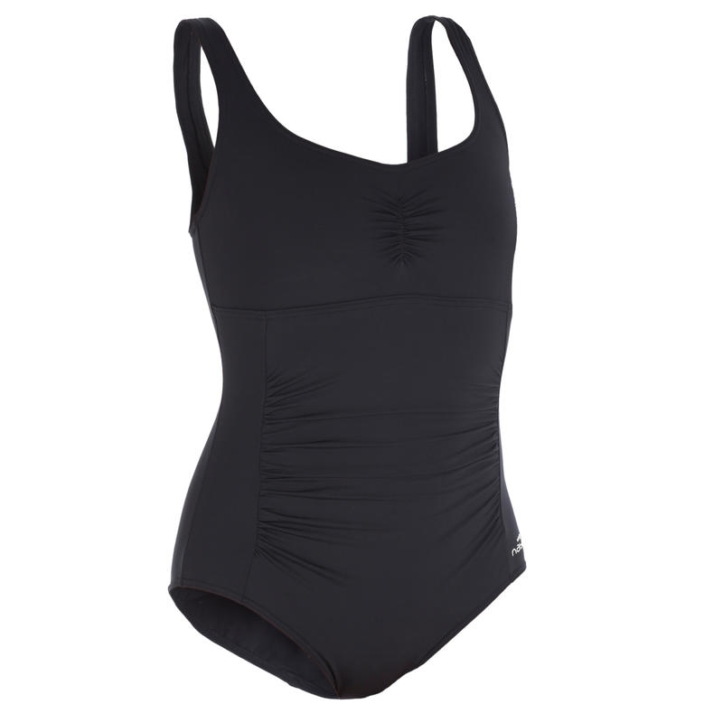 Mary Women's One-Piece Body-Sculpting Aquagym Swimsuit - Black