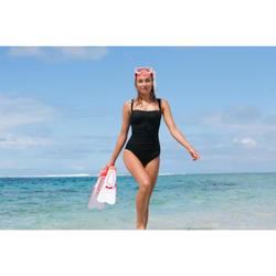 Badeanzug Dora figurformend Flacher-Bauch-Effekt Damen schwarz