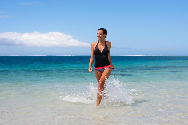 Top de bikini mujer tankini con copas fijas INES NEGRO