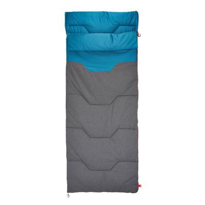 Sleeping de camping ARPENAZ 10° ALGODÓN Azul