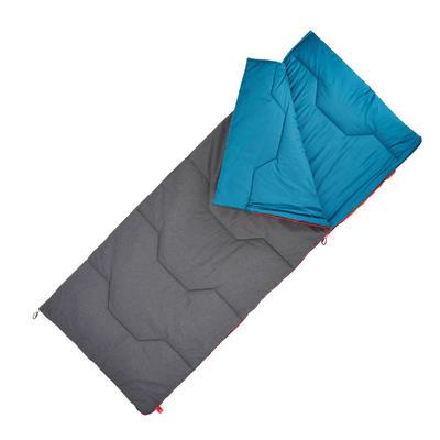 שק שינה מכותנה Arpenaz 10° למחנאות ולטיולים - כחול