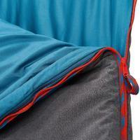 Sleeping bag de campamento ARPENAZ 10° ALGODÓN Azul